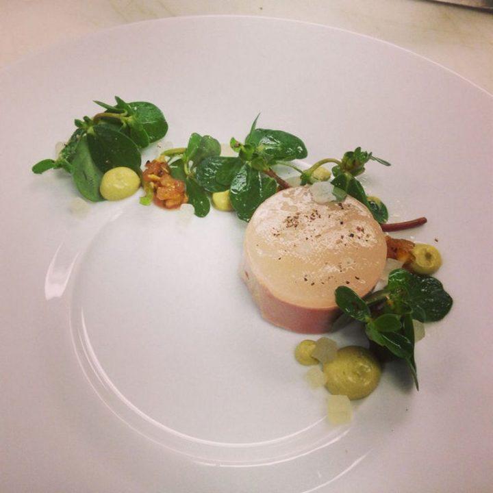 Fois gras dish.