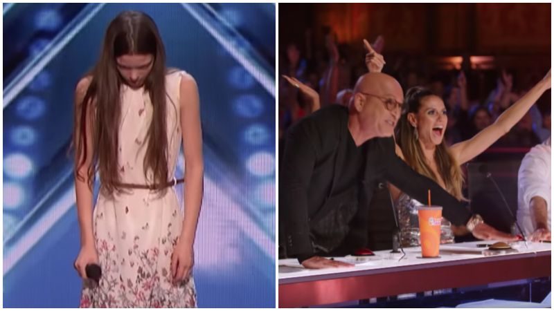 13-Year-Old Courtney Hadwin Earns Golden Buzzer at AGT 2018 Audition.