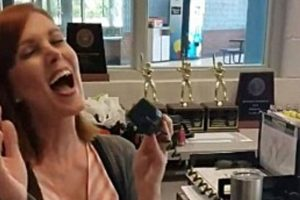 School Receptionist Sings Amazing At Last' Cover on the PA System.