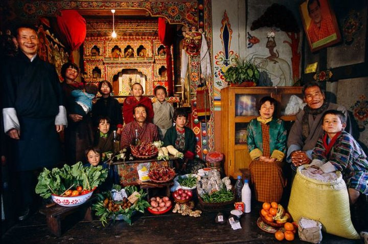 Bhutan: $5 USD per week in groceries.
