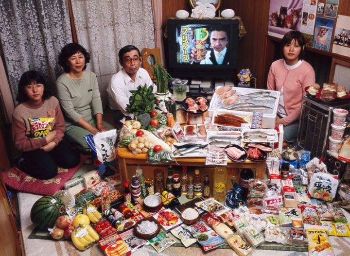 Japan: $317 USD per week in groceries.
