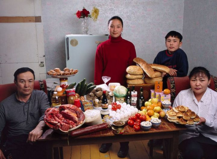 Mongolia: $40 USD per week in groceries.