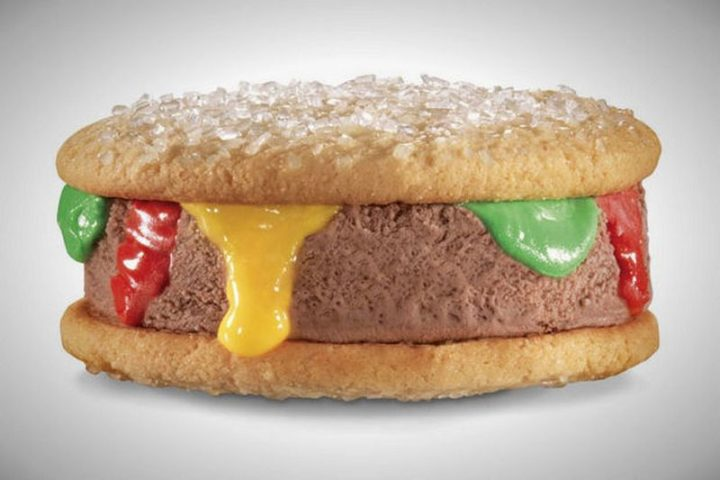 19 Ridiculous But Real Fast Food Items - Carl's Jr. Ice Cream Brrrger.