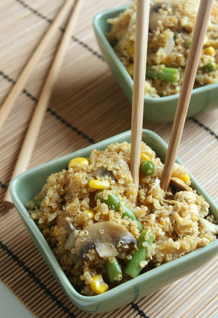 25 Healthy and Delicious Vegetarian Recipes - Quinoa Fried Rice.