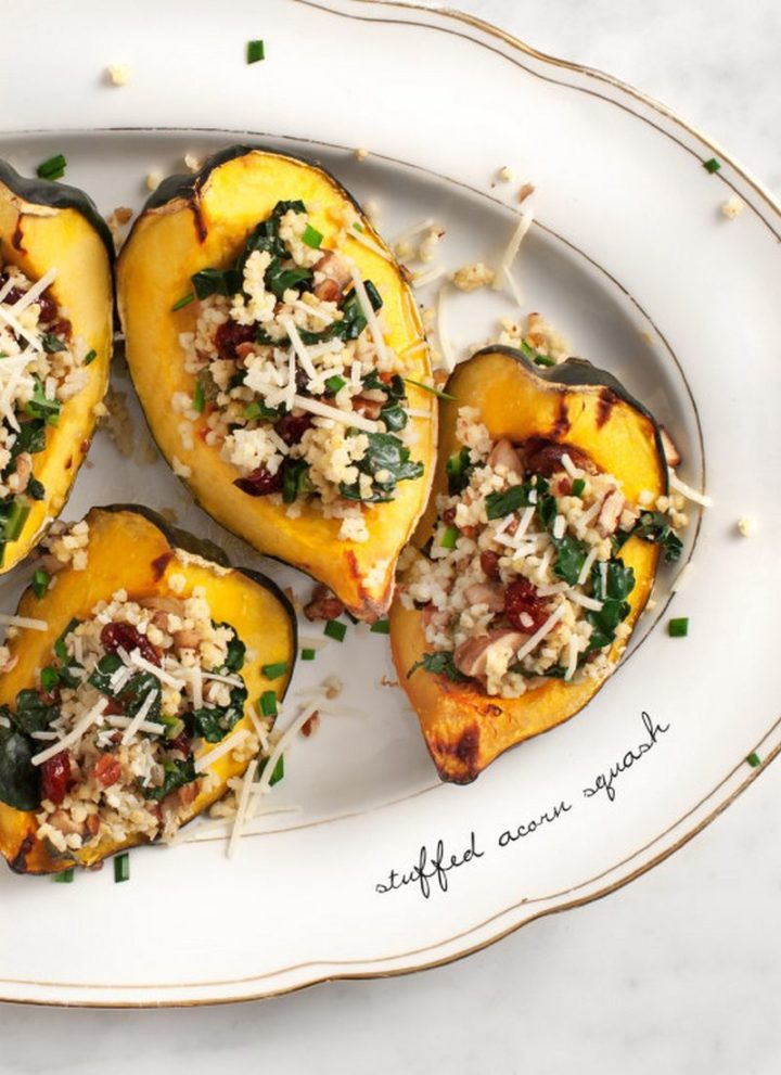 25 Healthy and Delicious Vegetarian Recipes - Stuffed Acorn Squash.