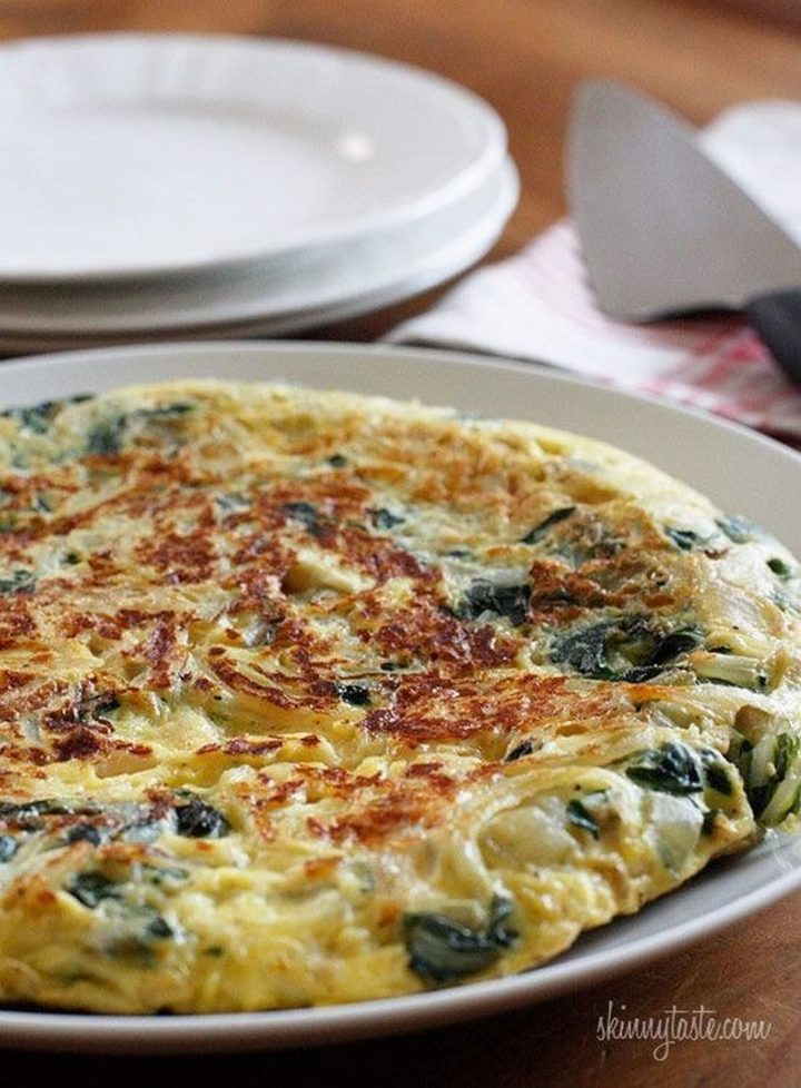 25 Healthy and Delicious Vegetarian Recipes - Light Swiss Chard Frittata.