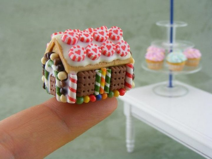 Shay Aaron Miniatures - Tiny Food (gingerbread house) That is Collectible and Wearable!