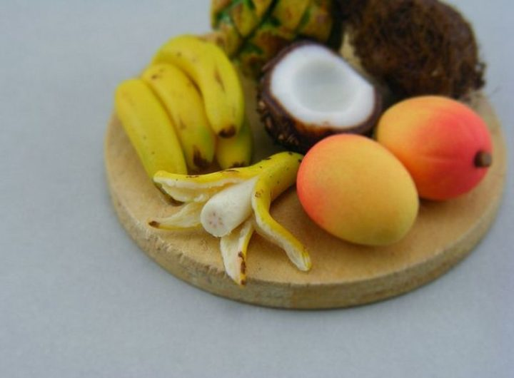 Shay Aaron Miniatures - Tiny Food (tropical fruit) That is Collectible and Wearable!