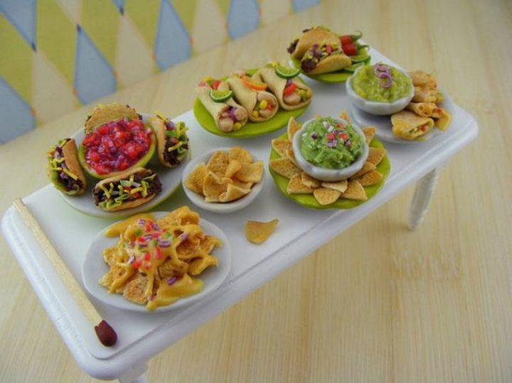 Shay Aaron Miniatures - Tiny Food (taco night) That is Collectible and Wearable!