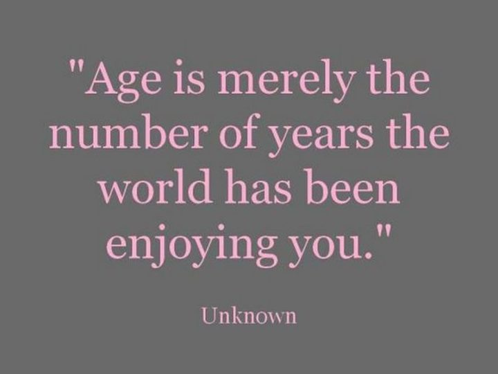 "101 Happy Birthday Memes - ""Age is merely the number of years the world has been enjoying you."""