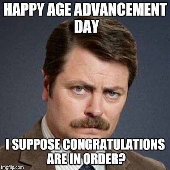 birthday happy memes age order congratulations advancement friends special