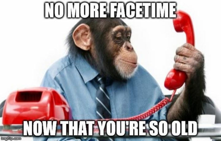 "101 Happy Birthday Memes - ""No more facetime now that you're so old."""