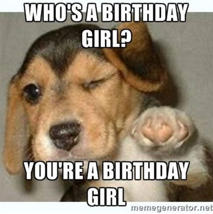 "101 Happy Birthday Memes - ""Who's a birthday girl? You're a birthday girl."""