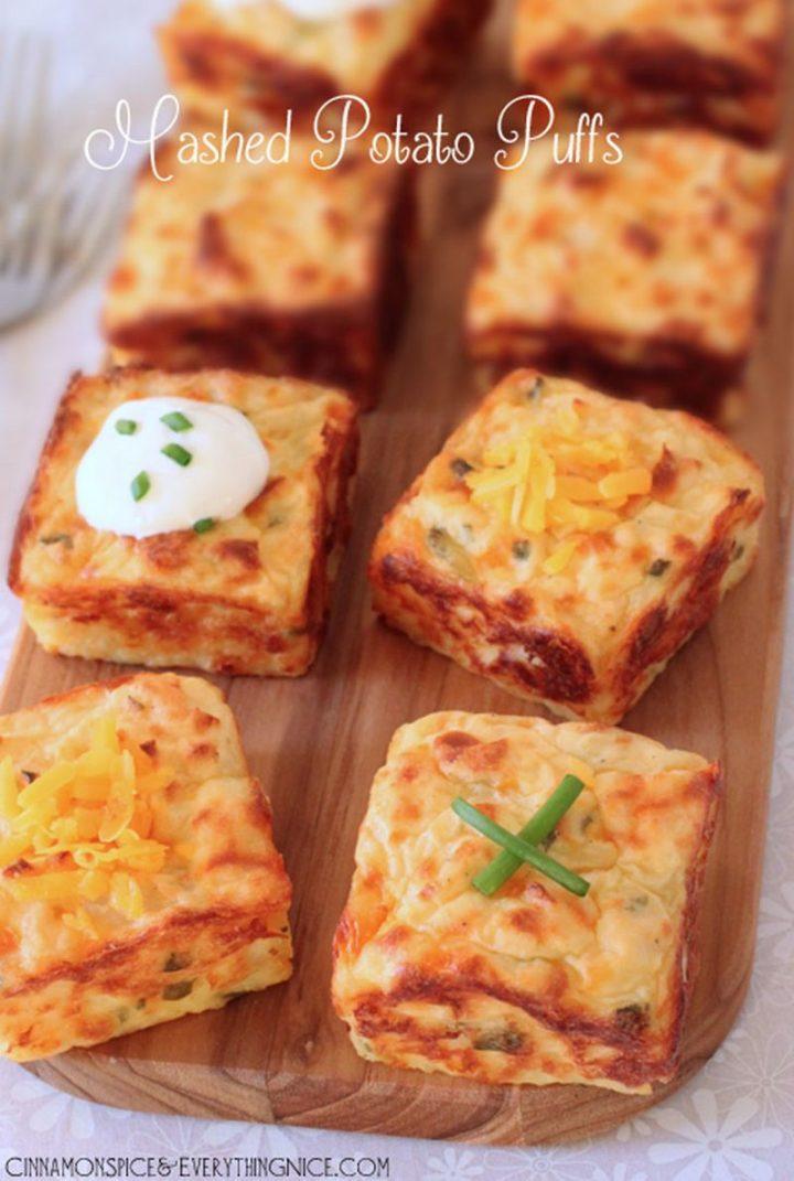 29 Best Potato Recipes - Mashed Potato Puffs Recipe.