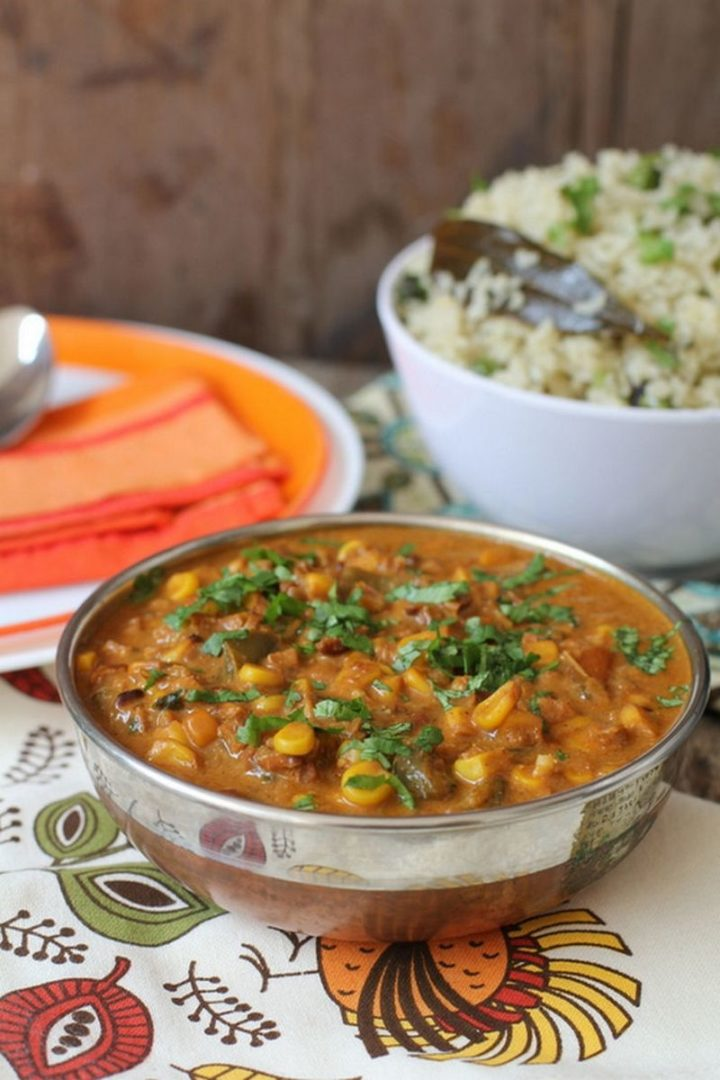 49 Indian Side Dishes - Sweet Corn Curry.