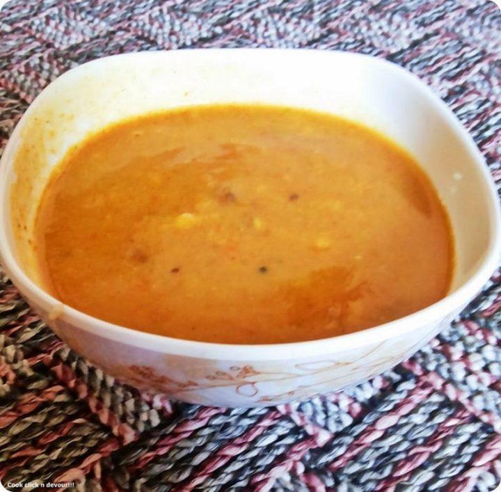 49 Indian Side Dishes - Arachu Vitta Kuzhambu.
