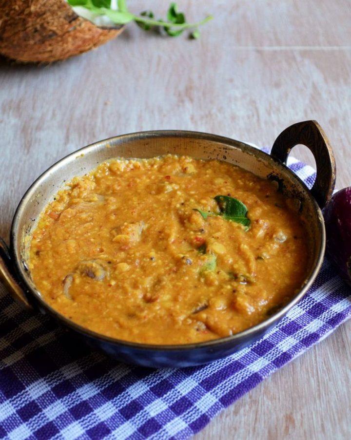 49 Indian Side Dishes - Kathirikai Pitlai (Brinjal Pitlai).