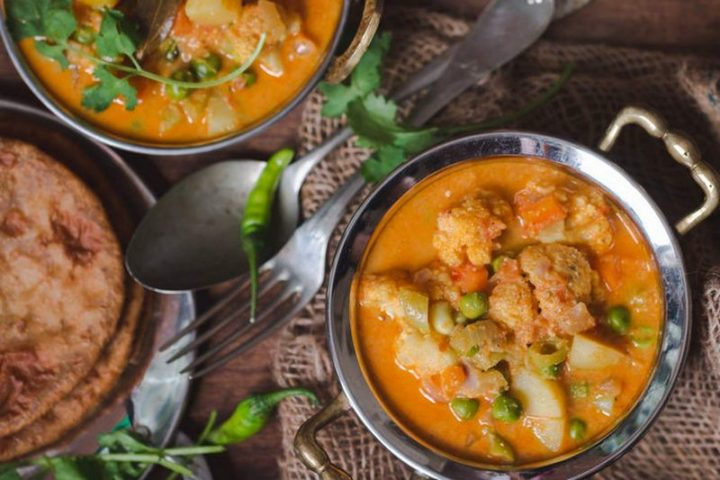 49 Indian Side Dishes - South Indian Style Vegetable Kurma.