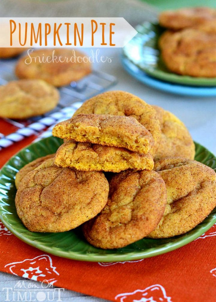27 Pumpkin Pie Recipes - Pumpkin Pie Snickerdoodles.