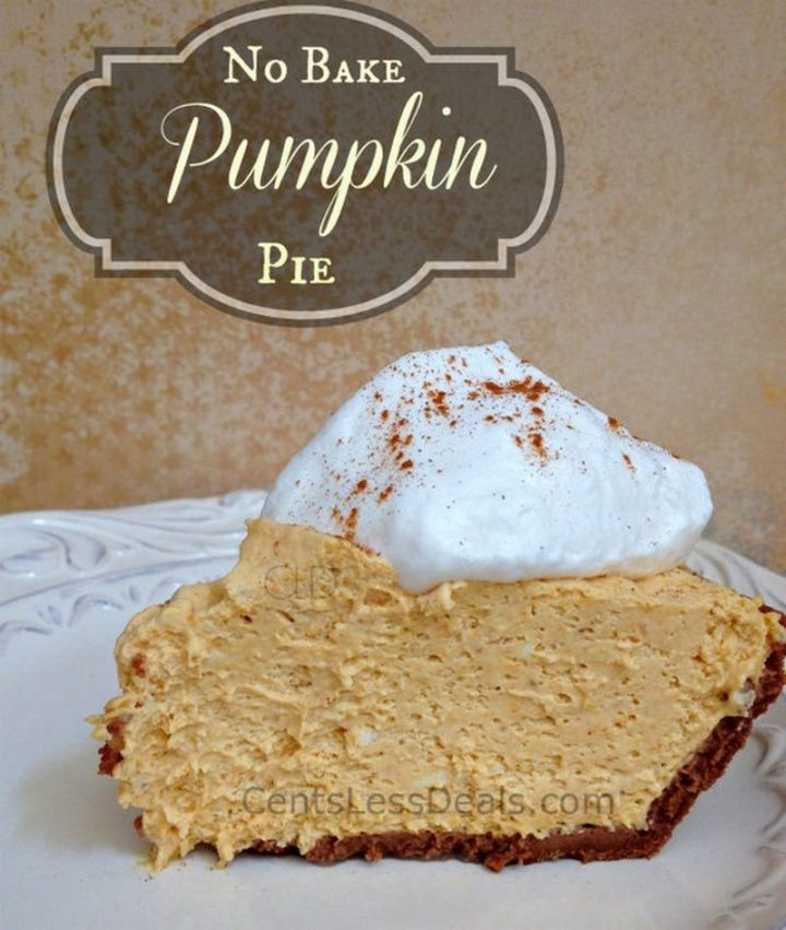 27 Pumpkin Pie Recipes - No Bake Pumpkin Pie.