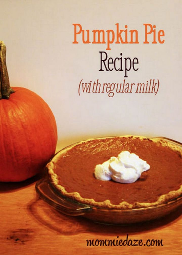 27 Pumpkin Pie Recipes - Pumpkin Pie (without evaporated milk).