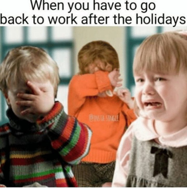 "21 Back to Work Memes - ""When you have to go back to work after the holidays."""