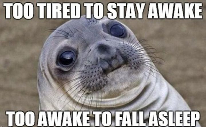 "37 Best Exhausted Memes - ""Too tired to stay awake. Too awake to fall asleep."""