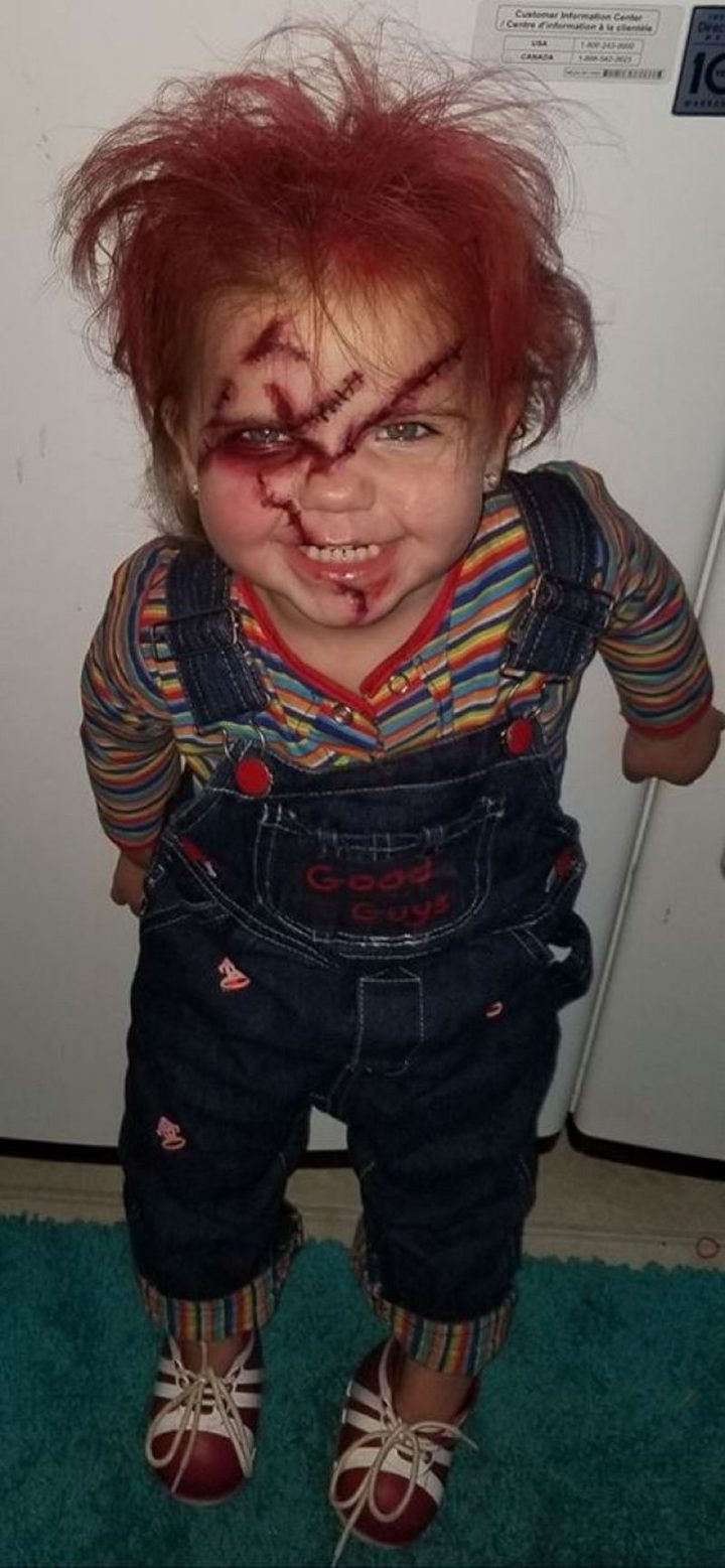 "49 Halloween Costume Ideas - ""It's child's play for him."""