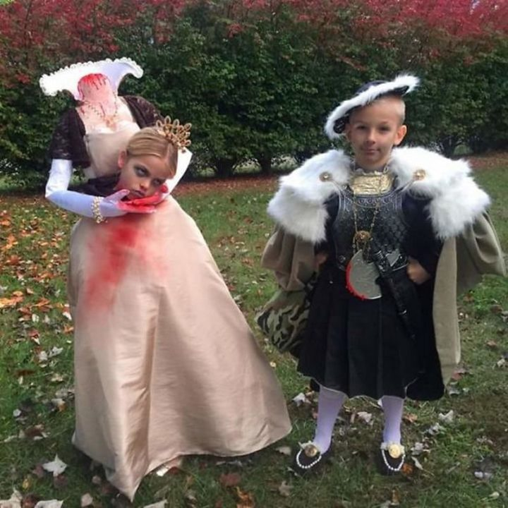 "49 Halloween Costume Ideas - ""My friend's kids Halloween costumes, Henry the VII and Ann Boleyn."""