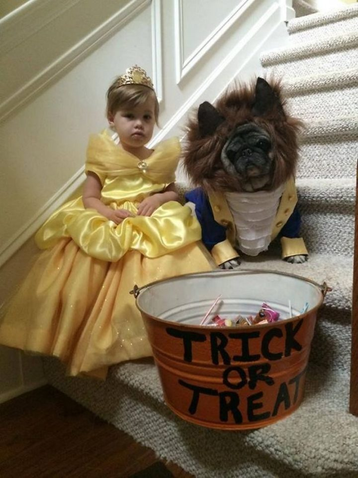 "49 Halloween Costume Ideas - ""Beauty with her little beast."""