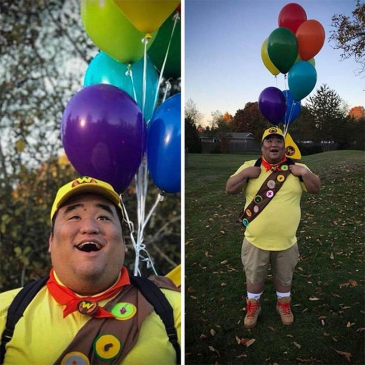 "49 Halloween Costume Ideas - ""Russell is all grown UP!"""