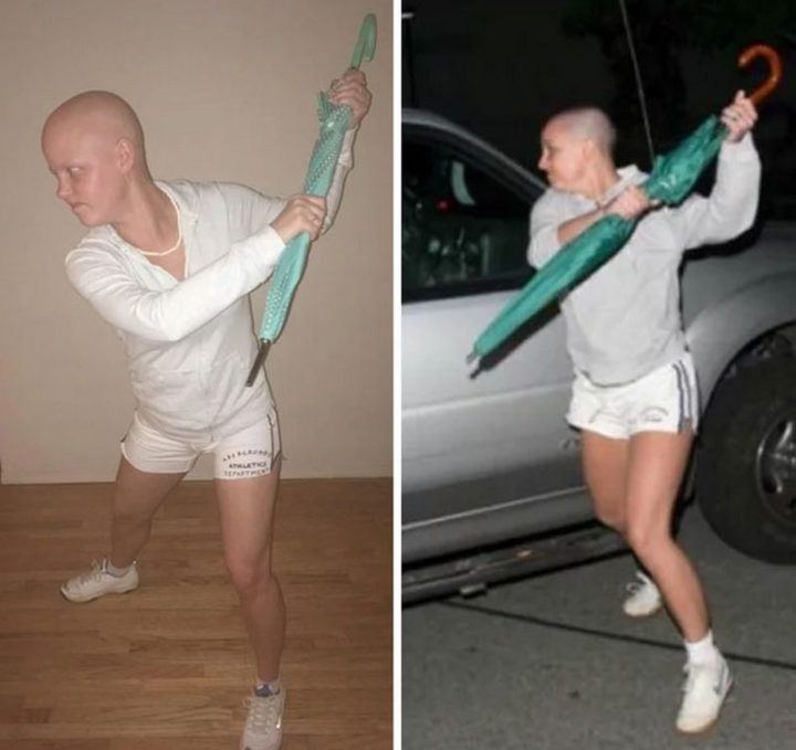 "49 Halloween Costume Ideas - ""My friend is going through chemo and decided to use the opportunity to attempt to win Halloween."""