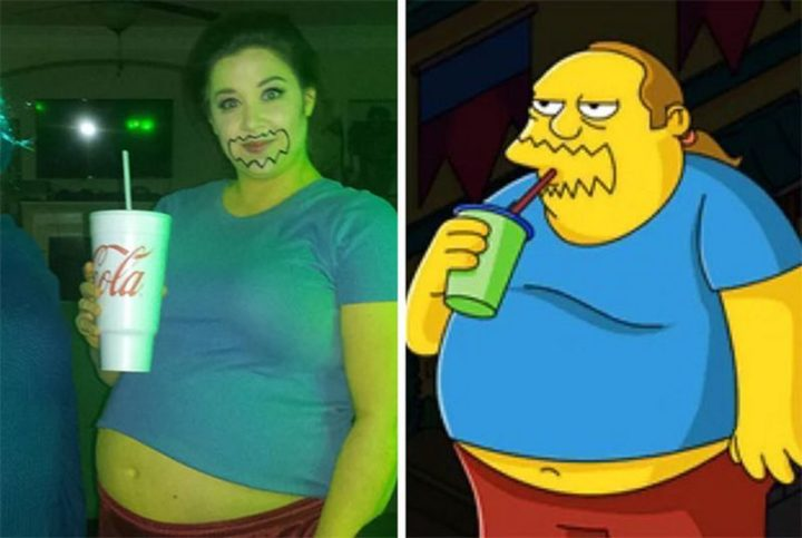 "49 Halloween Costume Ideas - ""I'm fat and I'm pregnant and I have no shame."""