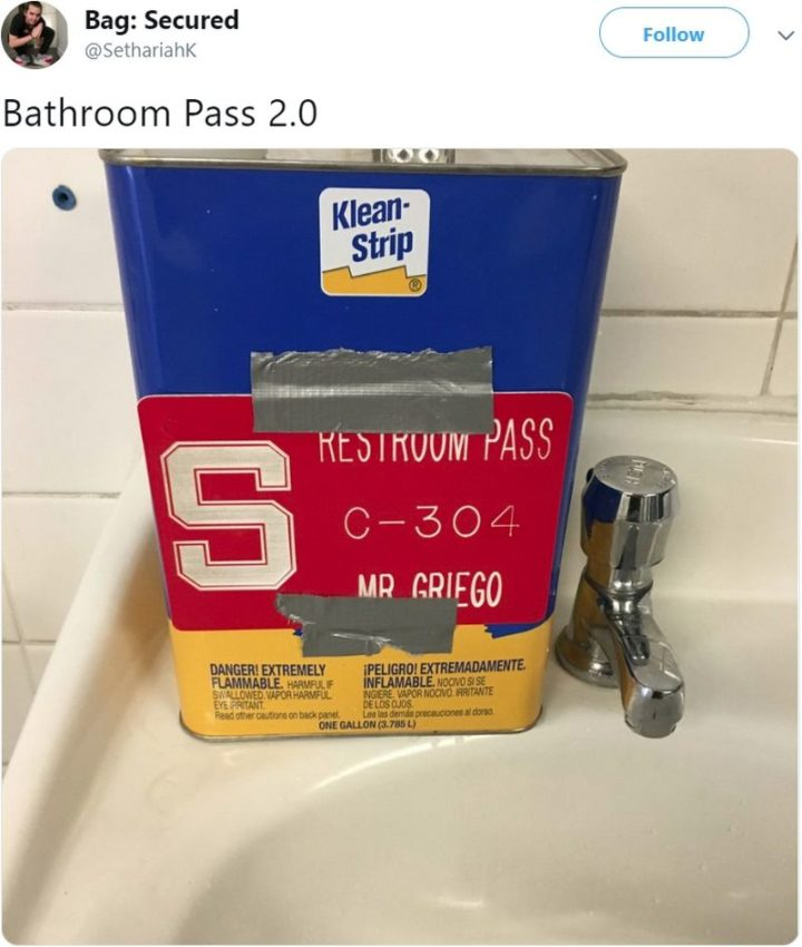 53 Funny Hall Passes - No smoking in the boy's room!