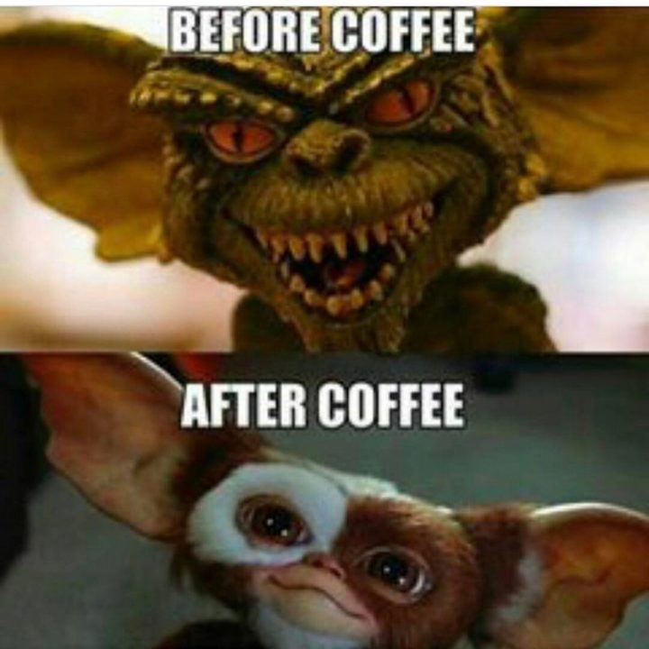 "101 Funny Nursing Memes - ""Before coffee. After coffee."""
