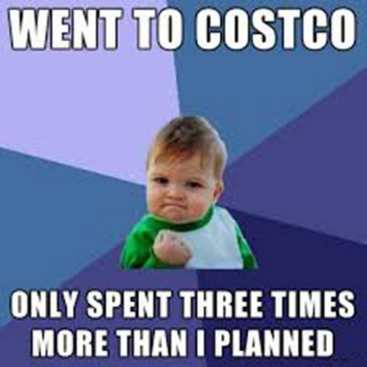 """29 Funny Costco Memes - """"Went to Costco, only spent three times more than I planned."""""""