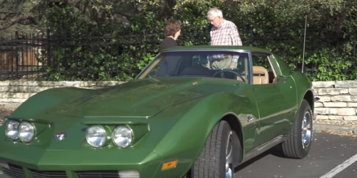 Father Gets the Surprise of His Life After Spotting a 1973 Corvette Stingray.