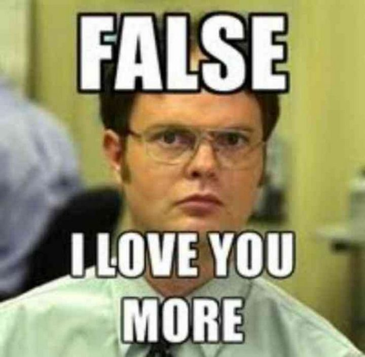 "101 I Love You Memes - ""False. I love you more."""