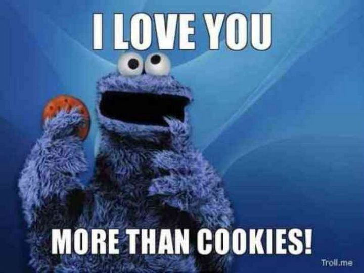 "101 I Love You Memes - ""I love you more than cookies!"""