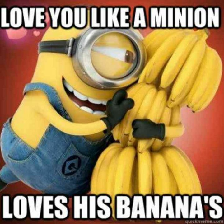 "101 I Love You Memes - ""Love you like a Minion loves his bananas."""