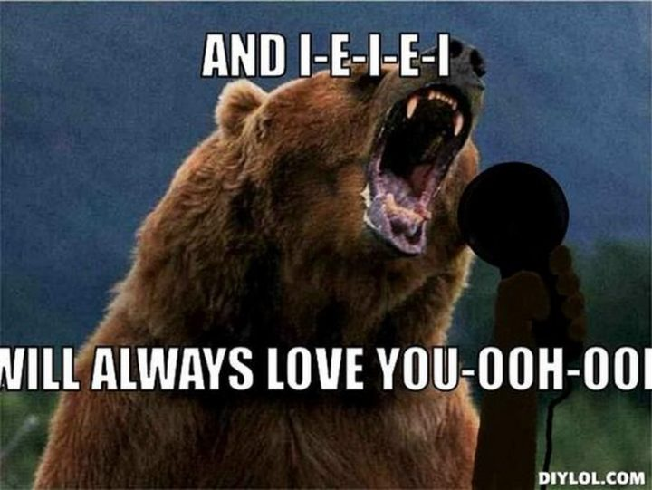 "101 I Love You Memes - ""And I-E-I-E-I will always love you-ooh-ooh."""