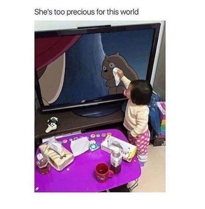 "85 Happy Memes - ""She's too precious for this world."""