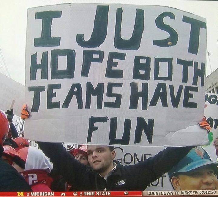 "85 Happy Memes - ""I just hope both teams have fun."""