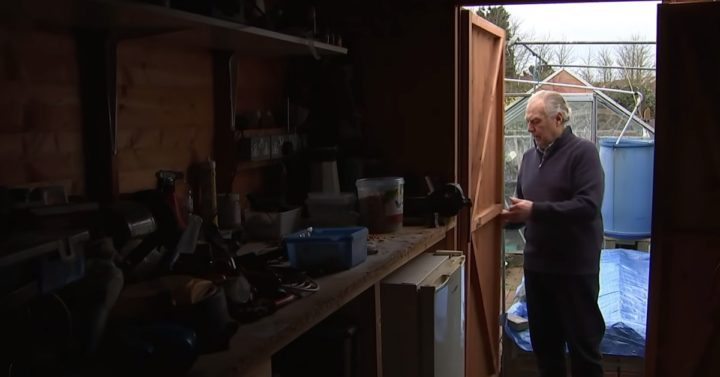 Mouse Secretly Keeps Homeowner's Shed Tidy and Clean.