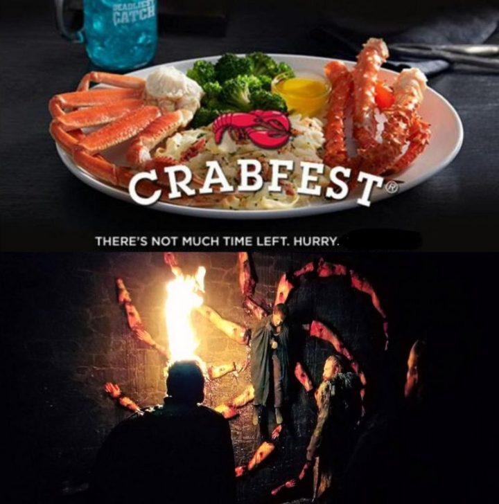 "91 Game of Thrones Memes - ""Crabfest. There's not much time left. Hurry."""