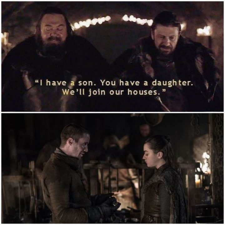 "91 Game of Thrones Memes - ""I have a son. You have a daughter. We'll join our houses."""