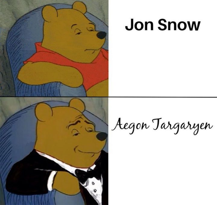 "91 Game of Thrones Memes - ""Jon Snow. Aegon Targaryen."""