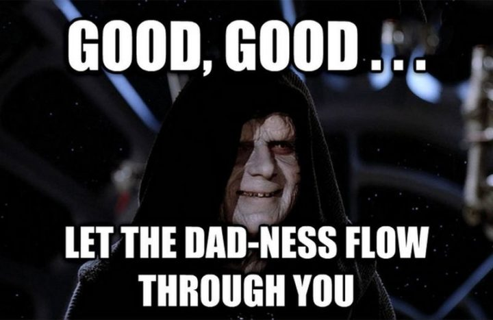 """71 Funny Dad Memes - """"Good, good...Let the dad-ness flow through you."""""""