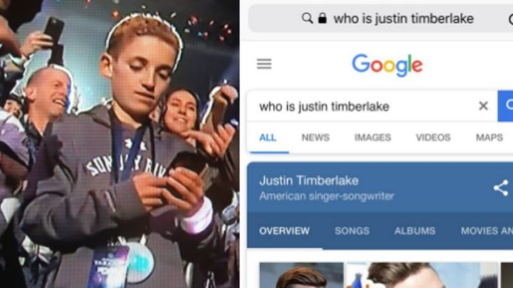 "Hilariously Funny Memes - ""2018 Super Bowl selfie kid: 'Who is Justin Timberlake'."""
