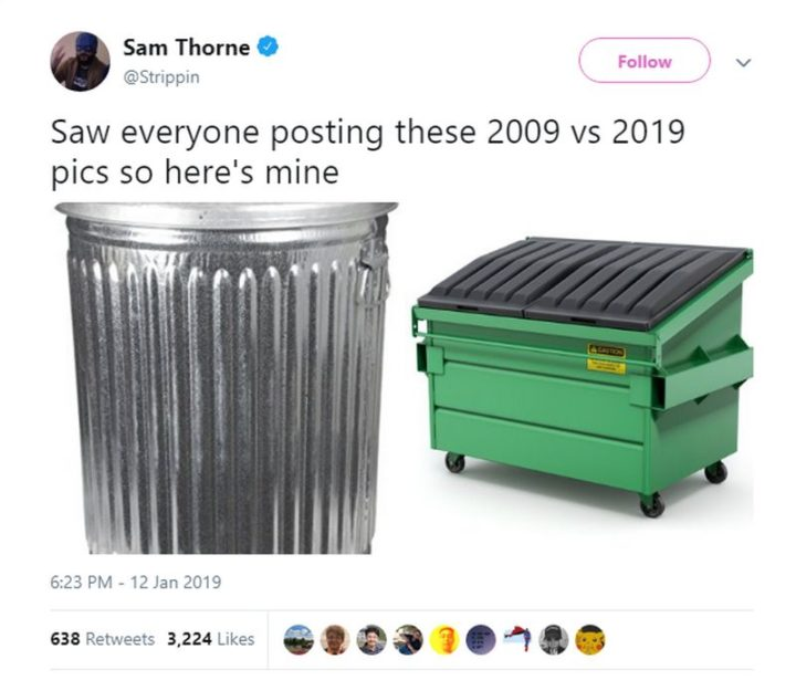 "Hilariously Funny Memes - ""Saw everyone posting these 2009 vs 2019 pics so here's mine."""